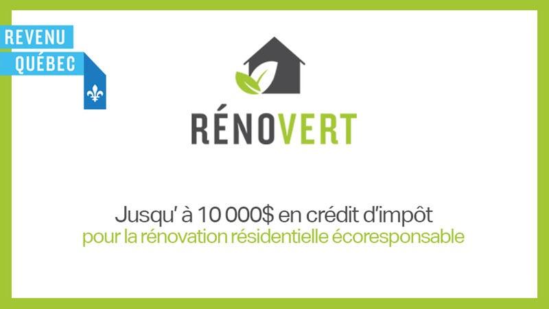 RénoVert : un crédit d'impôt pour les rénovations